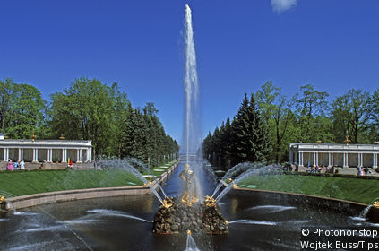 Peterhof Fontaines Russie Le Guide Vert Michelin