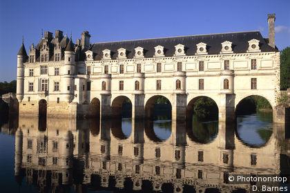Castillo de Chenonceau reflejándose en el Cher