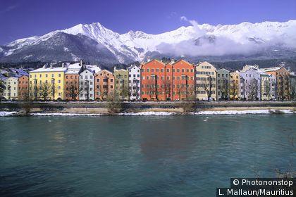 Innsbruck river, building façades
