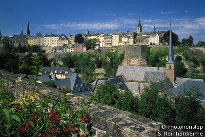 Luxemburg on the banks of the Alzette