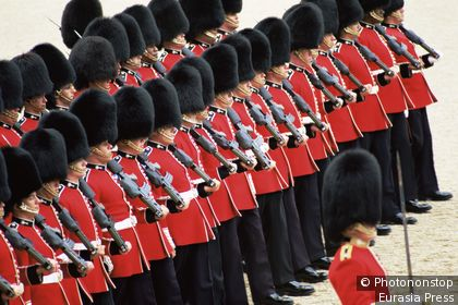 Parade with cavalry guards