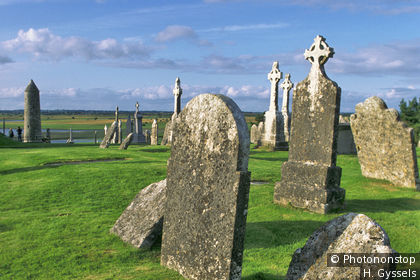 County Offaly, Clonmacnoise Monastery (7C)