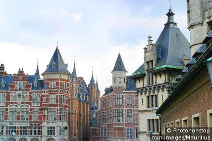 Architecture des maisons d'Anvers