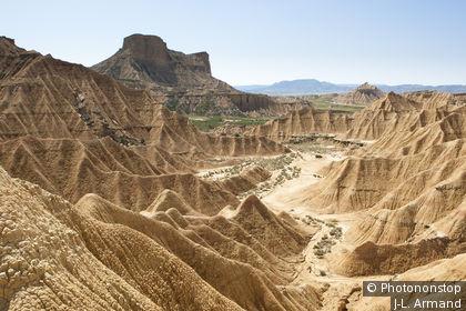 Die Wüstenlandschaft Bardenas Reales