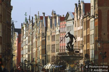 View of the city of Gdansk