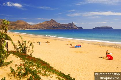 Beach on Porto Santo island, Madeira