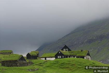 Hamlet of Saksun, Streymoy, Faroe Islandso, Denmark
