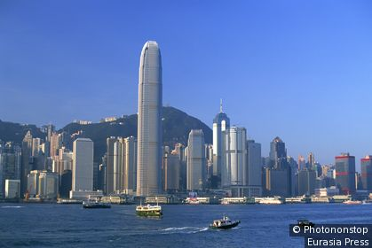 China,Hong Kong,City Skyline and Victoria Peak