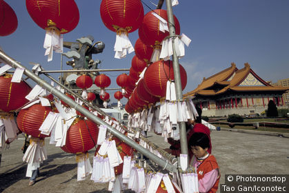 Chine, Taïwan, Taipei, l'opéra pendant la fête des lanternes