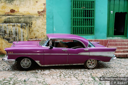 Chevy Bel Air in the streets of Cuba