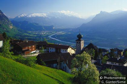 Il paese di Triesenberg in Lichtenstein