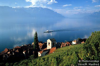 Vaud, Lac de Genève, Vignoble St-Saphorin