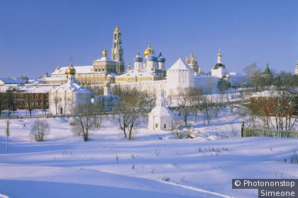 View of Sergiev Posad in winter