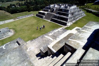 Central America,Guatemala, Zaculeu. Maya step pyramids