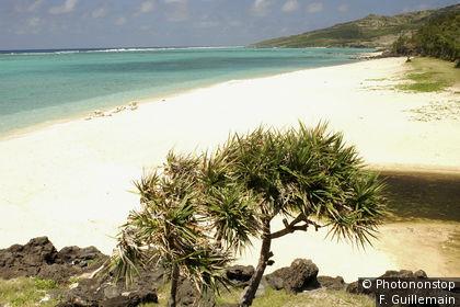 Plage de Saint François sur l'île Rodrigues