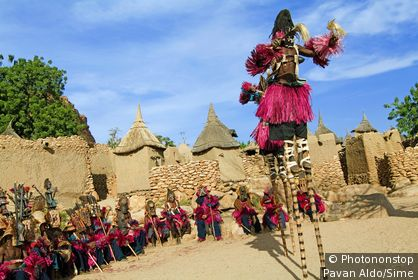 Mali, Mopti, Pays Dogon - Tirelli, Dogon dance