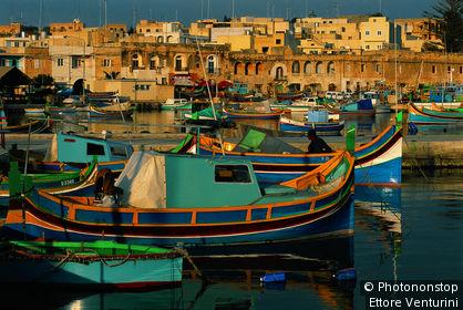 Malte, le port de Marsaxlokk