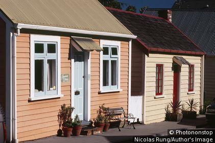 Nouvelle zélande - Ile du Sud - Nelson - South street - Old worker's cottage 1863-67
