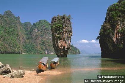 L'île de Ko Khao Phing Kan, dans la baie de Phangnga