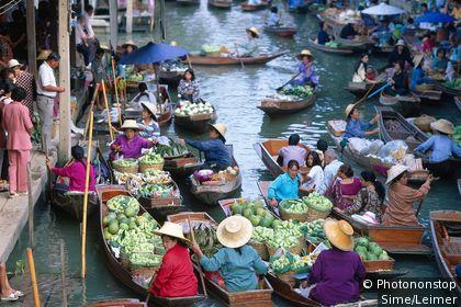 Marché sur l'eau de Bangkok