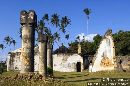 Tanzania, Zanzibar, Stone Town, Maruhubi Palace was built in 1882 for Sultan Barghash.