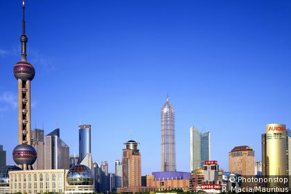 Modern view of Shanghai