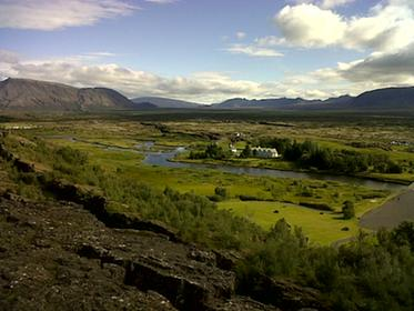 Thinvallavatn river valley and plains