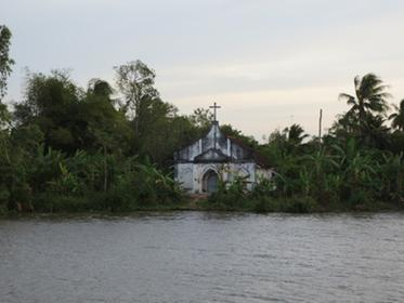 A church on the Mekong Delta