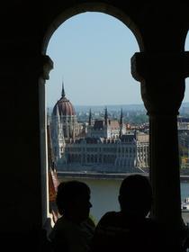 Budapest:vue sur le parlement