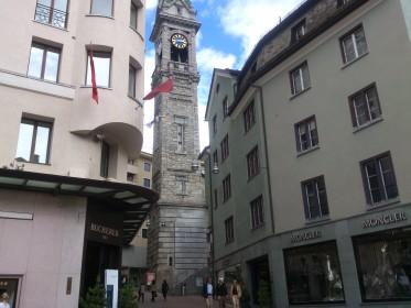 Sankt Moritz - Alte Kirche Sankt Moritz (Nur noch Turm)