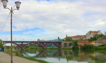 Maribor - Old town and river Drava