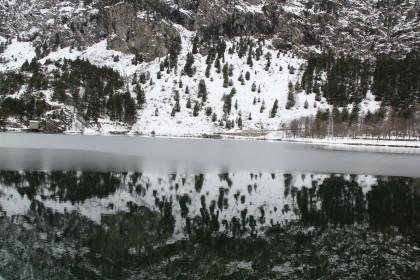 Lago del balneario