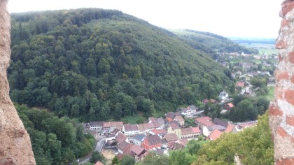Ferrette - View to the little town of Ferrette