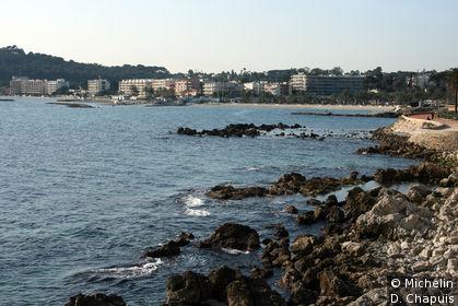 Vue de la promenade Amiral de Grasse