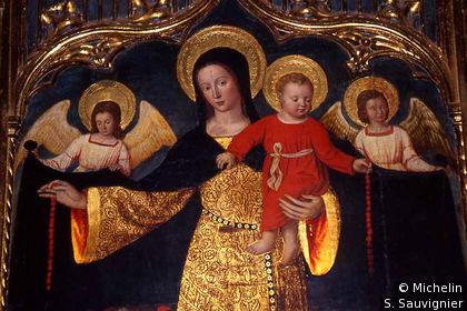 Eglise , rétable du Rosaire
