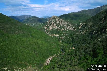 Vallée de la Bévéra à l'est de Sospel