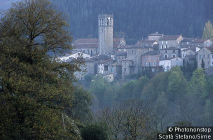 France;Rhône-Alpes - France, Rhône-Alpes, Natural Regional Park of the Monts d'Ardèche, village