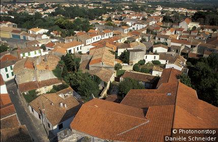 17. Ile d'Oléron, vue plongeante sur St Pierre d'Oléron
