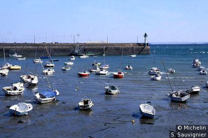 Saint-Quay-Portrieux : Port d'échouage à marée basse