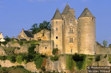 24. Salignac (Perigord Noir) le château et le village