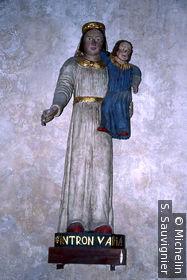 Église St-Pierre de Fouesnant : statue polychrome de sainte Anne
