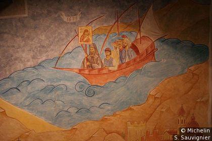 Fresque dans l'église grecque