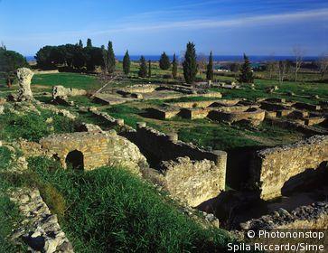 France;Corse - Aleria, old roman ruins