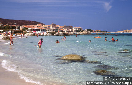 Corse, Ile-Rousse, the East beach