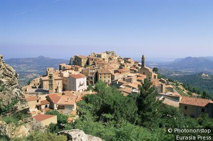 France,Corsica,Speloncato Hill Village