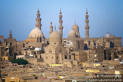 Mosques and minarets, old Cairo, Egypt
