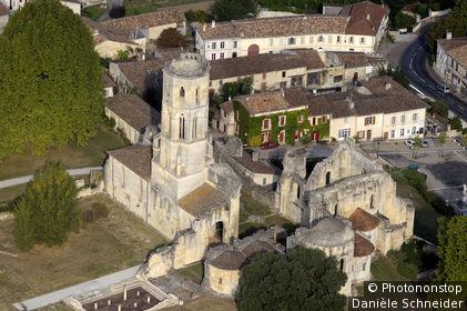 Vestiges de l'abbaye bénédictine (XI-XIII°) de la Sauve-Majeure, Entre-deux-Mers, 33 Gironde, rég. Aquitaine