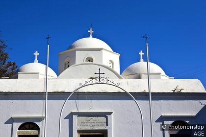 Grèce, Dodecanese, ile de Patmos, Kambos, église
