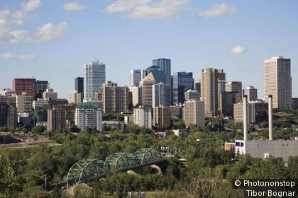 Canada, Alberta, Edmonton, downtown, skyline