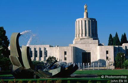 Oregon State Capitol Building, built 1938. Salem, Oregon, United States of America